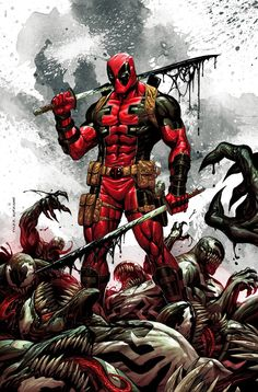 Deadpool Kills The Marvel Universe Again #1 (2017) KRS Comics Exclusive Variant Cover by Tyler Kirkham