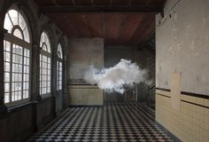 Surreal Nimbus Manmade Cloud Art Installation by Berndnaut Smilde.  Real cloud as art installation...