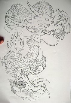 Dragon 8 from my book. Dragon 8 from my book. Japanese Dragon Tattoos, Japanese Tattoo Art, Japanese Tattoo Designs, Dragon Tattoo Art, Dragon Tattoo Designs, Chinese Dragon Art, Dragon Oriental, Backpiece Tattoo, Chest Tattoo