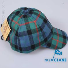 Pure wool baseball cap in Gunn ancient tartan  - From ScotClans