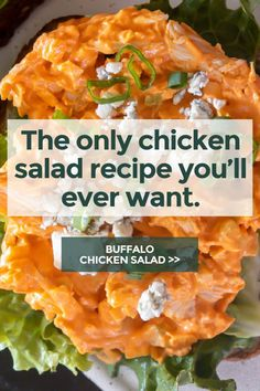 *NEW* This buffalo chicken salad is everyone's favorite party food (buffalo chicken dip) meets chicken salad. And it's got So. Much. Flavor. #buffalochickensalad #lowcarbbuffalochickensalad #lowcarbsalad #ketosalad #lowcarbsalads #ketosalads #lowcarblunch #ketolunch #lowcarbdinner #ketodinner