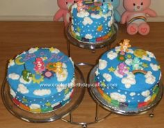 Homemade Care Bear Birthday Cake: This Homemade Care Bear Birthday Cake I made for a friend's baby shower.  The theme for her shower was Care-Bear. I was inspired by another cake from this