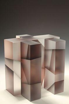 "Segmentation Series : Jiyong Lee - Genetic building block - grey segment, 10.75""h x 11""w x 10.5""d, 2012"