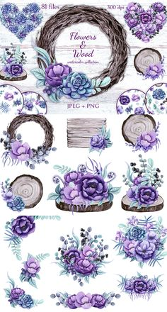 flowers wood by salted galaxy design bundles Mod Podge Crafts, Fabric Crafts, Paper Crafts, Digital Paper Free, Watercolor On Wood, Floral Logo, Galaxy Design, Free Graphics, Print Artist