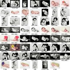 Newborn Pictures Posing Guide, would do a few in a different order.