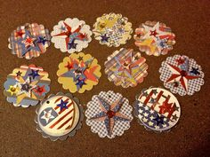 """Free Shipping""  Hand crafted vintage inspired 4th of July price tags.   Random lot of 24 individual tags ... only $6.99.  Additional qty and themes avilable upon request."
