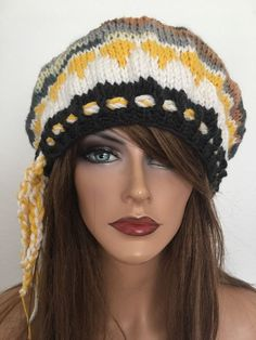 Hand Knits 2 Love Beanie Slouch Beret Female Designer Fashion Pompom Winter  | eBay