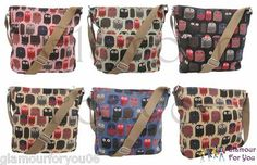 Ladies by MODA OWL CANVAS Bag Womens Messenger Cross Body Shopper Satchel Bag 12,76€