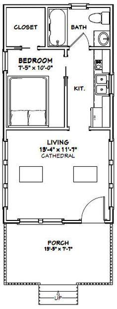 14x28 Tiny House -- 391Sq. Ft. -- #14X28H3E - Excellent Floor Plans