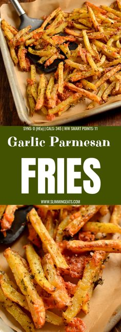 Melty Cheesy Garlic Parmesan Fries with a yummy low syn ranch dressing. | gluten free, vegetarian, Slimming World and Weight Watchers friendly