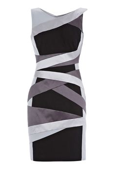 Karen Millen Structured bandage dress black multi ,Karen Millen DM131 hot sale Karen Millen Australia dresses online shop