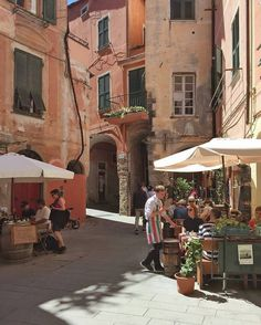like a paint scene in Monterosso Al Mare Cinque Terre Italy European Summer, Italian Summer, Places To Travel, Places To See, Northern Italy, Travel Aesthetic, Paris, Architecture, Wanderlust