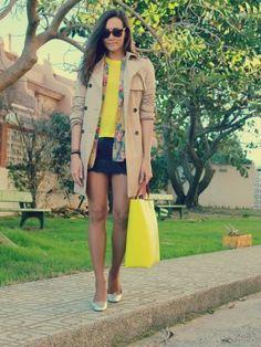 coohuco Outfit   Primavera 2012. Combinar Abrigo Beige Zara Woman, Falda Azul oscuro/Noche Handmade by mom, Cómo vestirse y combinar según coohuco el 28-3-2012