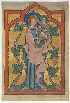 Leaf with Saint Christopher bearing Christ