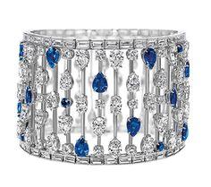 Mrs. Winston diamond and sapphire bracelet. Harry Winston