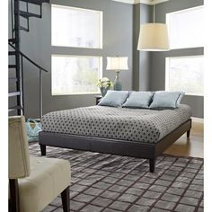Premier Elite Faux Leather Twin Brown Platform Bed Frame weight limit 1000 lbs. $109.00