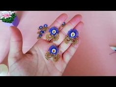 Tatting Lace, Apron Dress, Crochet Videos, Belly Button Rings, Stud Earrings, Crafts, Youtube, Jewelry, Olinda