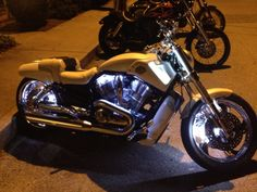 Steve's Harley-Davidson VRSCF V-ROD Muscle at night