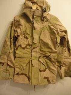 Deadstock US Military Goretex ECWCS Desert Camo Parka