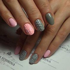 3d nails, Beautiful nails 2016, Everyday nails, Festive nails, Ideas of winter nails, Olive nails, Original nails, Oval nails