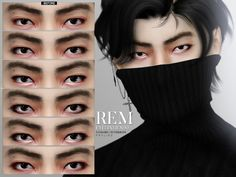 Rem Eyeliner by Praline Sims for The Sims 4 - Rem Eyeliner by Pralin. Los Sims 4 Mods, Sims 4 Body Mods, Sims 4 Game Mods, Sims 4 Teen, Sims Four, Sims Cc, Sims 4 Hair Male, The Sims 4 Skin, Sims 4 Anime