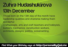 What your Birthday says about your career? Find at http://apps.personalityquiz.me/birthday_say_about_career