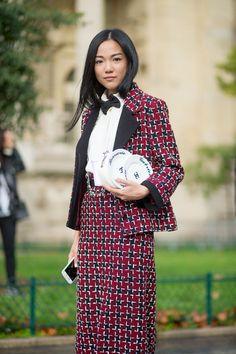 The Paris Way: Fashion Week Street Style  - HarpersBAZAAR.com