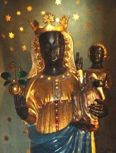 black madonna statue   In her sanctuary near Biella and the source of the river Oropa, age ...