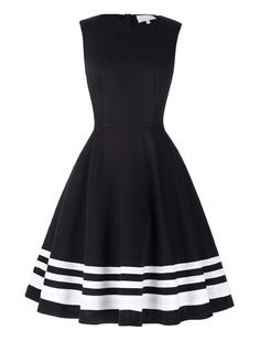 Vintage Dresses Vintage Style Head Over Heels Black And White Striped Dress - Retro Mode, Vintage Mode, Vintage Style, Retro Vintage, Retro Style, Classic Style, Swing Dress, Dress Skirt, Lace Dress