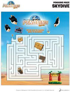 Penguins of Madagascar Printable Maze
