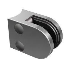 Uchwyt do szkła dla Słupek prawy Ø42,4 mm, 4 szt. uchwytów do szkła, szlifowany K320, AISI 304