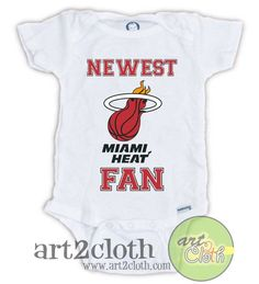 Florida Miami Heat FAN Baby Onesie