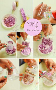 Reciclage | envase vidrio con purpurina