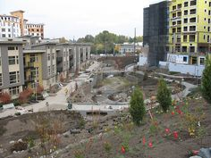 Image showing a storm garden under construction in Thornton Creek, USA.