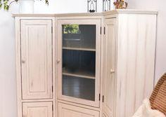 Rohová sestava - patinováno Tall Cabinet Storage, Furniture, Home Decor, Homemade Home Decor, Home Furnishings, Interior Design, Home Interiors, Decoration Home, Home Decoration