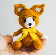 Baby fox crochet pattern free