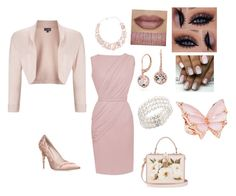 """""""Blush speech"""" by honugrl on Polyvore featuring Blue Nile, RALPH & RUSSO, Bloomingdale's, Poppy Jewellery, Dolce&Gabbana, Stephen Webster, Phase Eight, Power of Makeup and BUFF"""