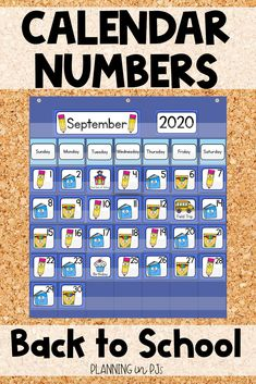 Back to School Calendar Numbers for your classroom calendar - perfect to start off the year! Includes school supply themed calendar numbers in an ABC pattern - pencils, books and boxes of markers, matching month labels, year cards, and special days/holiday cards. Classroom Calendar, School Calendar, September Activities, Back To School Activities, Month Labels, Calendar Activities, Calendar Numbers, School Plan, School Events