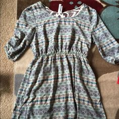 Dress size L From a little boutique. Only worn once, will add a little navy belt with it too! Dresses Long Sleeve