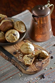 Peanut Butter-Chocolate Oat Muffins @Jean Pope | Lemons & Anchovies