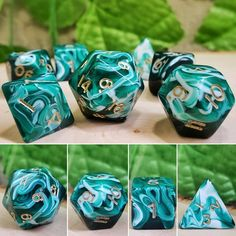 Dice Dungens And Dragons, Dungeons And Dragons 5e, Playing Dice, D D Characters, Tabletop Rpg, Pen And Paper, Magic The Gathering, Resin Crafts, Goblin