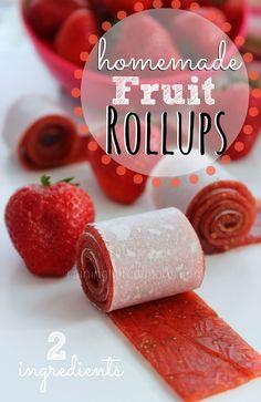 Homemade 2-Ingredient Fruit Rollups