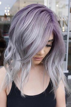 33 Light Purple Hair Color Ideas ❤ Sexy Silver Purple Hair picture2 ❤ See more: http://lovehairstyles.com/light-purple-hair-color-ideas/Light purple hair is exactly what you need in case you wish to look brighter this season. We have a collection of colorful hair looks to inspire you.#haircuts#hairstyle#haircolor