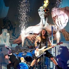 Iron Maiden-Steve Harris and Bruce Dickinson-Maiden England Tour