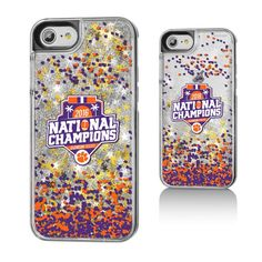 Clemson Tigers College Football Playoff 2016 National Champions Gold Glitter iPhone 7 Case - $24.99