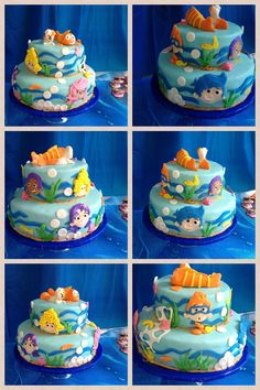 Bubble Guppy Birthday cake I made for my granddaughter