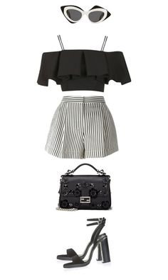 """Majorca"" by maelohan ❤ liked on Polyvore featuring Topshop, 3.1 Phillip Lim, Fendi and Prabal Gurung"