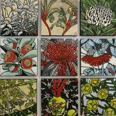 A Sunburnt Country. Australian Native Flowers, Australian Art, Botanical Drawings, Botanical Prints, Art Floral, Guache, Indigenous Art, Linocut Prints, Textile Art