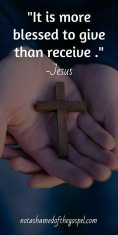 Enough said, Jesus said it best!