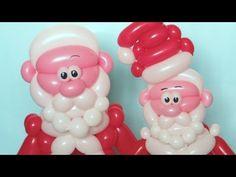 Дед Мороз из шаров (тело) / Santa Claus of balloons (body) - YouTube